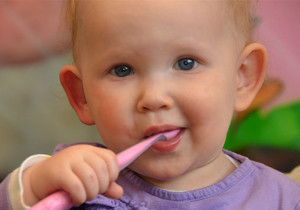 childrens dental care child with toothbrush